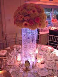 cherry plum events crystal wedding centerpieces