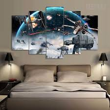 empire prints wall art shirts pillows shoes and more star wars battle 5 piece canvas painting canvas teepeat