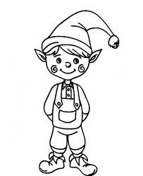 cute christmas elf funny cheek coloring pages christmas