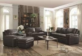 Leather Living Room Sets For Sale Furniture Regalvale Leather Living Rooms Set In Charcoal