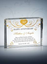 50 wedding anniversary gifts 50th golden wedding anniversary gifts diy awards