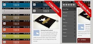 site templates tiger jquery mobile web template u0026 web app