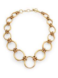 large gold link necklace images Lyst vaubel large irregular oval link necklace in metallic jpeg