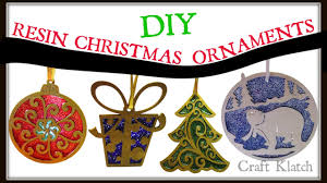 wood resin and glitter christmas ornaments diy project craft
