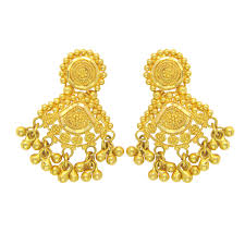 gold earrings for marriage buy popley 22kt gold bandhan earring a99 online in india garner