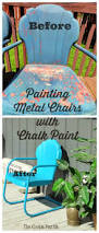 Best Way To Paint Metal Patio Furniture The Cookie Puzzle Painting Metal Chairs With Chalk Paint