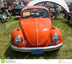 orange volkswagen beetle 1971 orange vw beetle front view editorial photo image 36744751