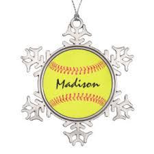 Softball Christmas Ornament - fastpitch softball ornaments u0026 keepsake ornaments zazzle