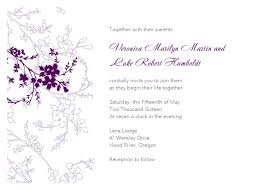 violet flower wedding invitation