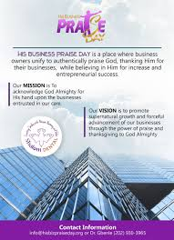 his business praise day tickets fri jan 19 2018 at 6 30 pm