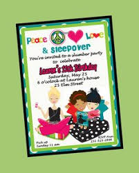 free printable girls slumber party invitations google search