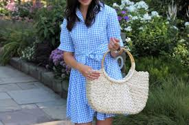 blue gingham shirt dress tips on moving style waltz