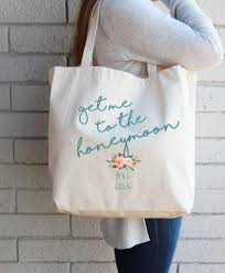 wedding gift destination wedding gift for to be custom tote bag honeymoon bag