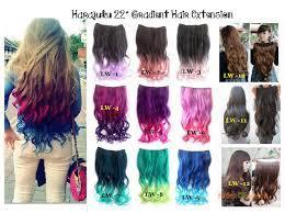 diy hair extensions harajuku 22 56cm gradient curly wa end 7 21 2016 11 15 pm