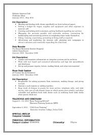 Hotel Desk Clerk Job Description Updated Cv1