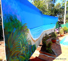 tropical beach mural robina gold coast charleen morris art tropical beach mural robina gold coast