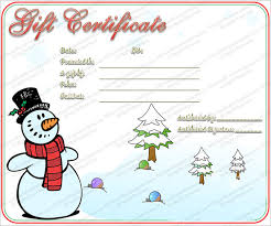 gift certificate template word sogol co