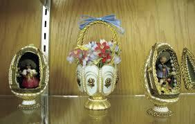 childersburg displays handmade ornamental eggs at library