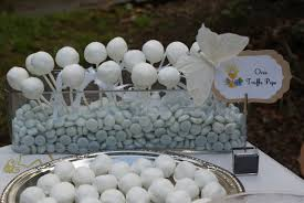 Decoration For First Communion Have Cake Pops Displayed In Blue Candy For A Boy U0027s First Communion