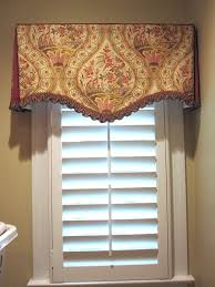 floral pattern valance combined white window treatment ideas for