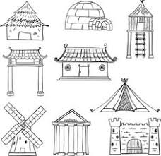 Types Of Houses Pictures Different Types Of Houses In Black And White Drawing Ideas
