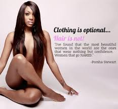 what type of hair does porsha stewart wear porsha stewart unveils her new hair collection naked gumbumper