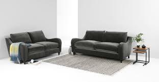 furniture baila grey velvet sofa on gold stainless steel legs for