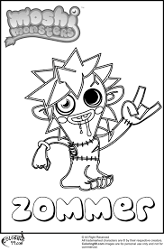 face teenage type of face coloring page inside moshi monster