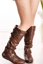 s boots buckle brown knee high boots buckle side zipper s boots boots