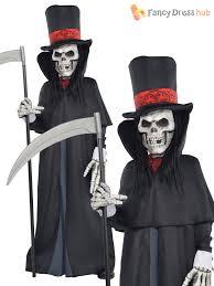 Boys Skeleton Halloween Costume Dapper Death Costume Boys Grim Reaper Fancy Dress Skeleton