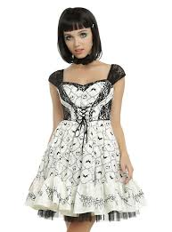 the nightmare before embroidery dress topic