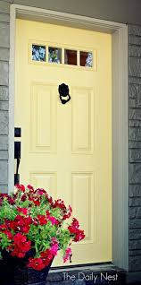 How To Refinish An Exterior Door The Easy Way by Re Pinning This Because I Used This Tutorial To Paint My Front