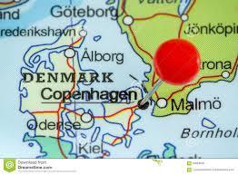 map of copenhagen pin on a map of copenhagen stock photo image 56964035