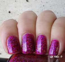 purple glitter car ida nails it darling diva polish muscle car diva collection