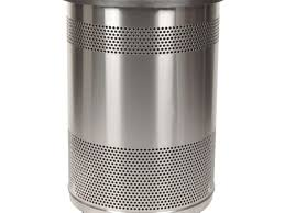 bathroom white bathroom trash can 41 gallon perforated the art
