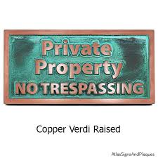 modern private property no trespassing sign 14