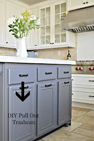 kitchen island with trash bin turn a door and a drawer into a pull out trash can drawers
