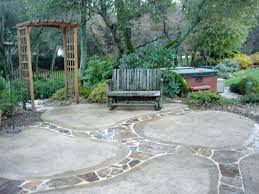 Backyard Flagstone Patio Ideas Cement Ideas For Backyard U2013 Mobiledave Me