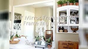 simple bathroom upgrade diy mirror frame with mendez manor youtube