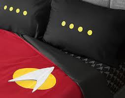 star trek tng uniform bedding set thinkgeek