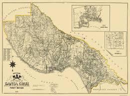 Davenport Florida Map by Old County Map Santa Cruz California Landowner 1906