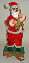 saxophone playing dancing santa claus 13
