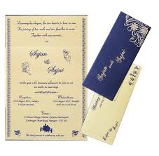 blue personal marriage card designer wedding invitation