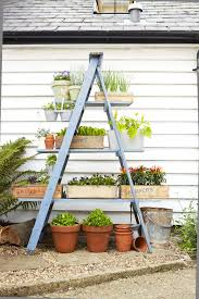 plant stand diy ladder planter patio garden outside plant