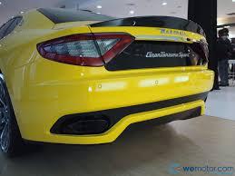 yellow maserati naza italia launches maserati granturismo sport rm1 118 000