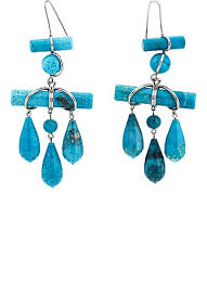 turquoise drop earrings calvin klein 205w39nyc imitation turquoise drop earrings barneys