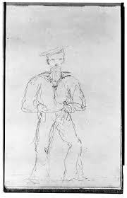file album de marine sketchbook of 48 folios containing 17