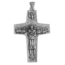 pectoral crosses pope francis pectoral cross 4 inch the catholic company
