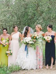 print bridesmaid dresses these mismatched bridesmaid dresses are the trend