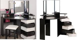 eccentric modern black white industrial small vanity desk for